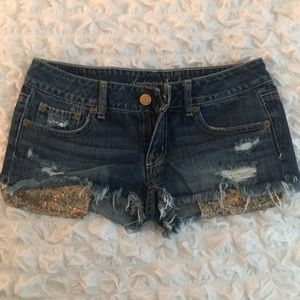 American eagle sequin shorts